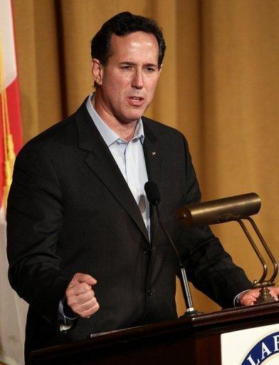 <p>Republican presidential candidate Rick Santorum speaks at the Alabama Republican Presidential Forum March 12. Santorum says the party needs a standard bearer in the mold of late conservative icon president Ronald Reagan.</p>