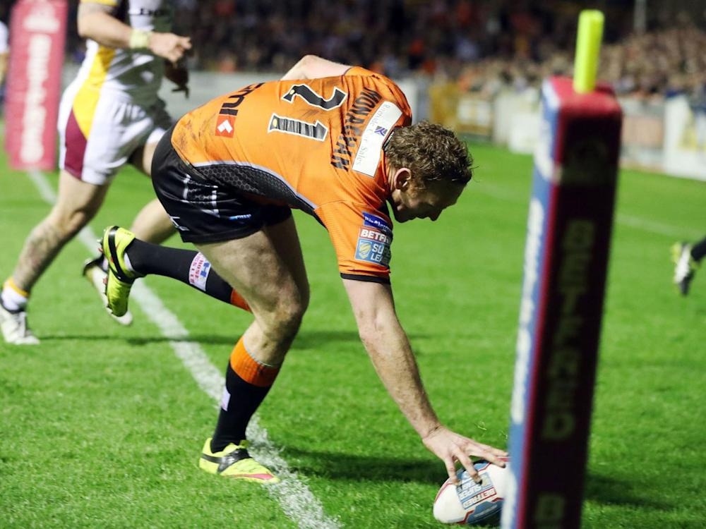 Joel Monaghan touches down for Castleford (PA)