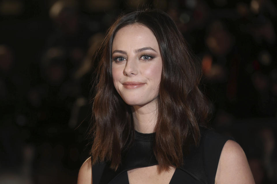Actress Kaya Scodelario poses for photographers upon arrival at the fan screening of the film 'Maze Runner: The Death Cure' in London, Wednesday, Jan. 22, 2018. (Photo by Joel C Ryan/Invision/AP)