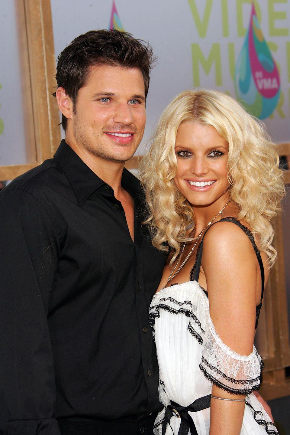 <p>Could you imagine inviting a television crew into your house just six weeks after tying the knot? That's exactly what pop stars Nick Lachey and Jessica Simpson did back in 2003, and <em>Newlyweds</em> turned into several seasons of reality TV gold. The two eventually split shortly after the cameras stopped rolling. </p>