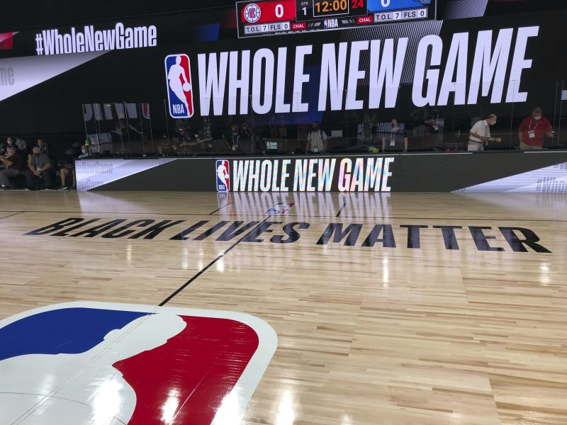 NBA court at Disney World