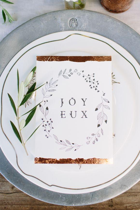 """<p>With a little help from copper leafing, you can recreate this gorgeous card.</p><p><strong>Get the tutorial at <a href=""""http://blog.freepeople.com/2014/11/holiday-entertaining-kelli-murray/?crlt.pid=camp.F9sFmyzOuXDf"""" rel=""""nofollow noopener"""" target=""""_blank"""" data-ylk=""""slk:BLDG 25"""" class=""""link rapid-noclick-resp"""">BLDG 25</a>.</strong></p>"""