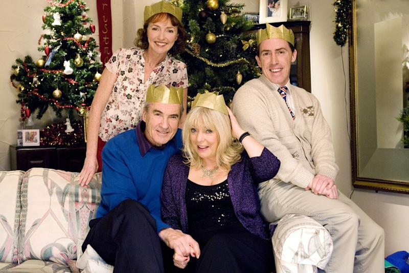 Larry Lamb (front left) in Gavin and Stacey (Baby Cow)