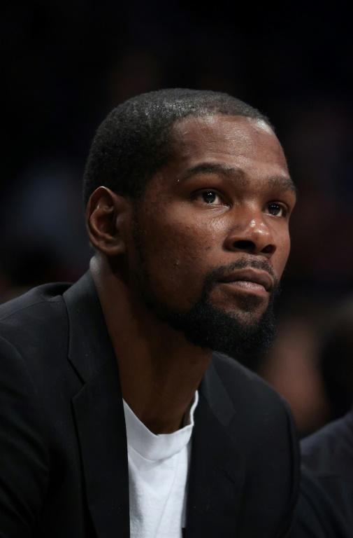 Already sidelined for the season, Kevin Durant has tested positive for coronavirus (AFP Photo/AL BELLO)