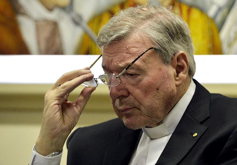 Cardinal George Pell has repeatedly denied covering up the sex abuse claims (AFP Photo/Andreas Solaro)