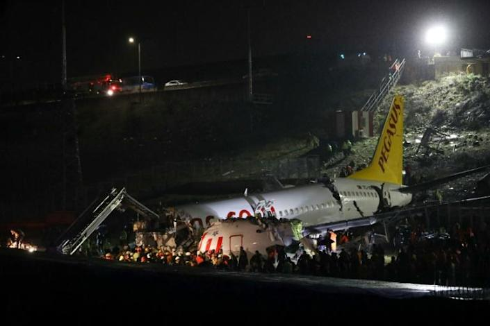 A total of 177 people were on board the plane (AFP Photo/STR)