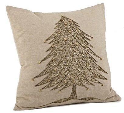 Sapin de Noël cotton throw pillow. (Photo: Amazon)