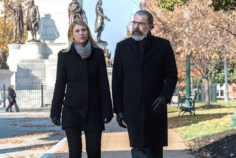 Claire Danes as Carrie Mathison and Mandy Patinkin as Saul Berenson in Homeland | Antony Platt/SHOWTIME