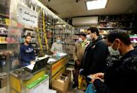 A vendor sells games and consoles in Tehran's central market. There are at least 32 million gamers among Iran's population of 80 million, according to a September report by the Iran Computer and Video Games Foundation