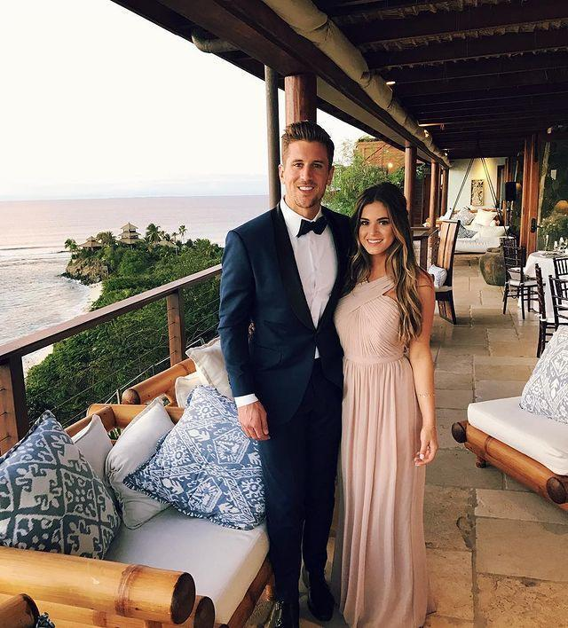 """<p>JoJo Fletcher has not walked down the aisle with her hunky fiancee Jordan Rodgers yet, but she was in the bridal party for her friend in February 2017. <em>The Bachelorette </em>star wore a pleated blush gown.</p><p><a href=""""https://www.instagram.com/p/BQ6cBbJDyeT/"""" rel=""""nofollow noopener"""" target=""""_blank"""" data-ylk=""""slk:See the original post on Instagram"""" class=""""link rapid-noclick-resp"""">See the original post on Instagram</a></p>"""