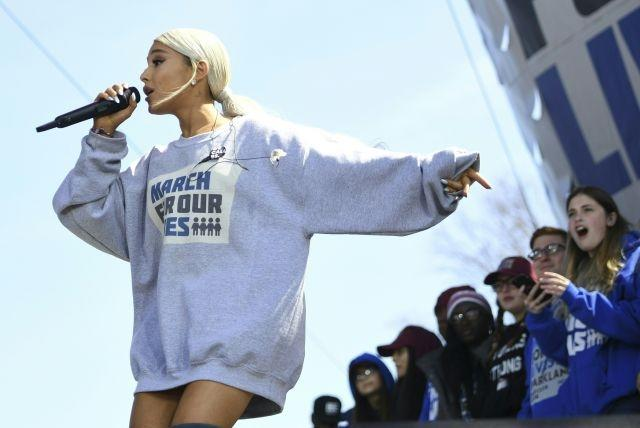 Ariana Grande performs during the March for Our Lives Rally