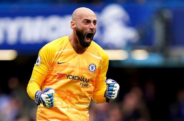 Chelsea goalkeeper Willy Caballero earned himself a second-hand Range Rover when saving Cesc Fabregas' penalty (Tess Derry/PA)
