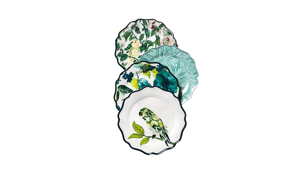 "<p>These dinner plates will transform any dining room — and are a steal for less than $3 apiece.<br><br>Melamine Dinner Plate 10.5-inch Blue/Green Floral, $2.99 each, <a href=""https://www.target.com/p/melamine-dinner-plate-10-5-blue-green-floral-opalhouse-153/-/A-53025863"" rel=""nofollow noopener"" target=""_blank"" data-ylk=""slk:target.com"" class=""link rapid-noclick-resp"">target.com</a> </p>"