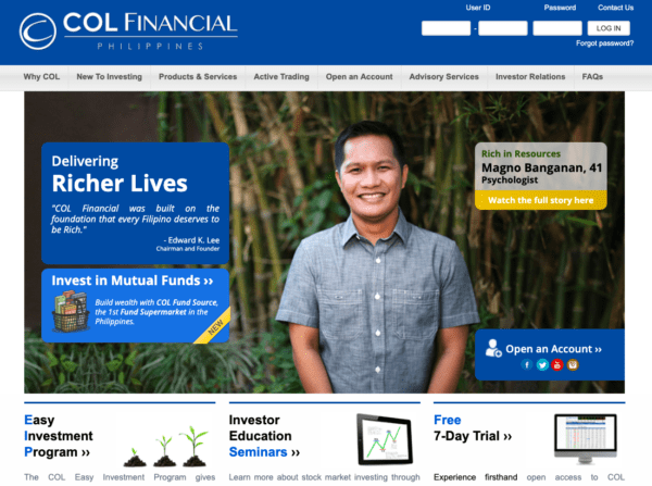 col financial for beginners philippines - col account