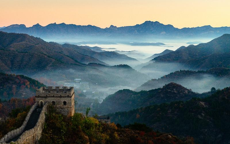 A local helicopter operator offers 30-minute flights over the Mutianyu section of Great Wall, a rambling stretch of Ming-era brick and stone