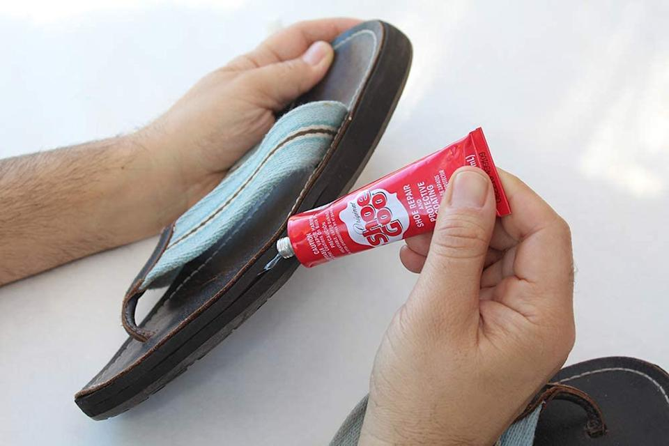 Shoe GOO is ideal for fixing worn soles or damaged heels. (Image via Amazon)