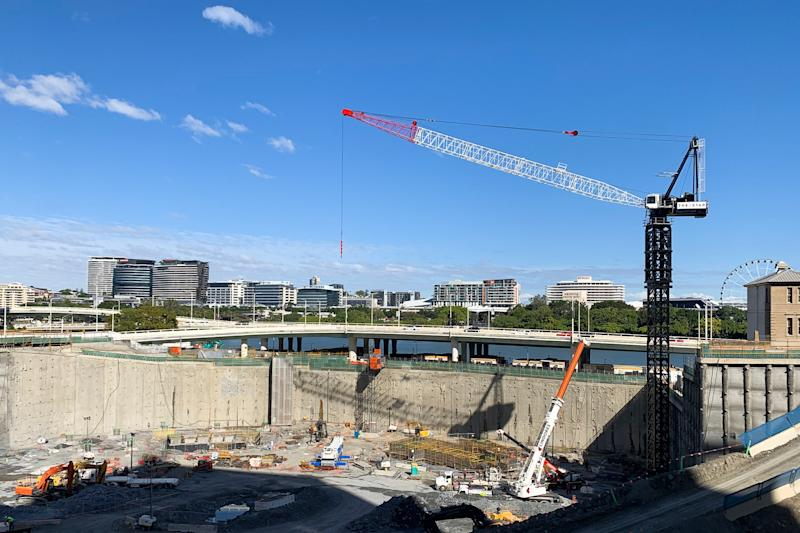 The Queen's Wharf construction site in Brisbane. Source: AAP
