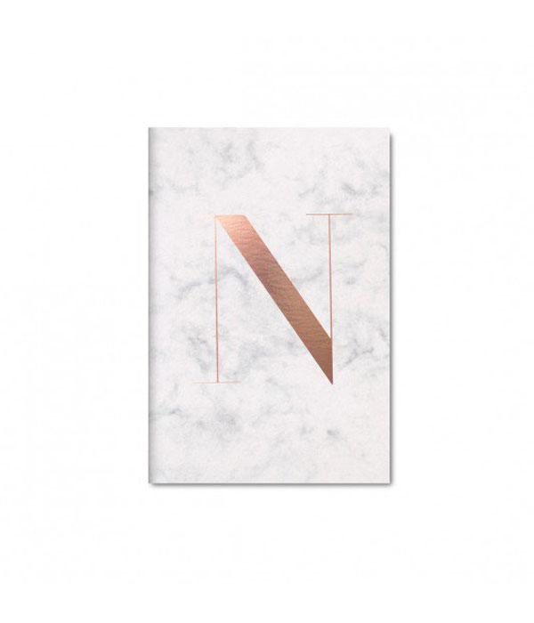 """Monogram Notebook, $17.95; at<a href=""""http://thedailyedited.com/shop/monogram-n-notebook/"""">The Daily Edited</a>"""