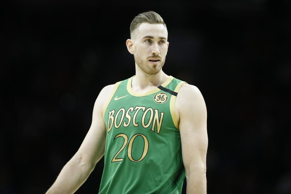 Gordon Hayward will test free agency after declining his player option with the Celtics. (AP Photo/Matt Slocum)