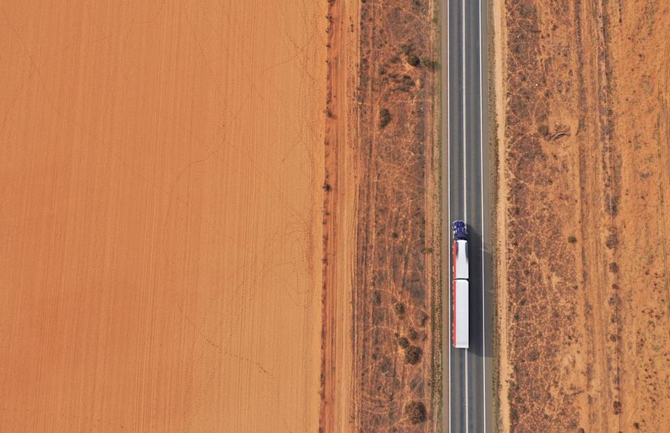 Aerial images of drought conditions in outback Australia. Mildura. Victoria. Australia.