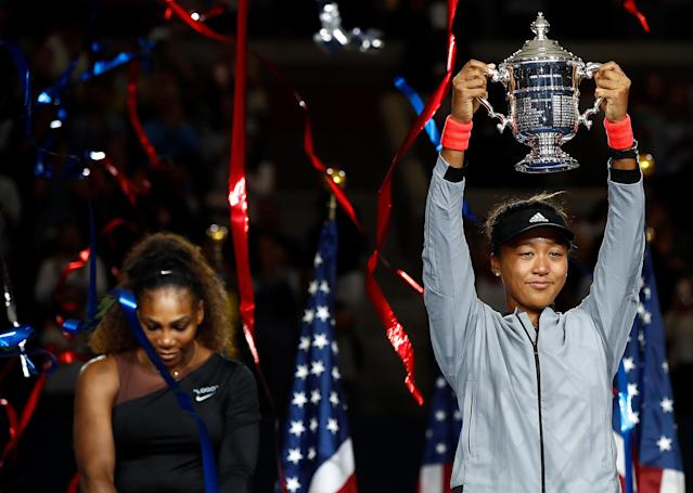 Naomi Osaka became the first Japanese Grand Slam winner after beating Serena Williams in the final of the 2018 US Open (Getty)
