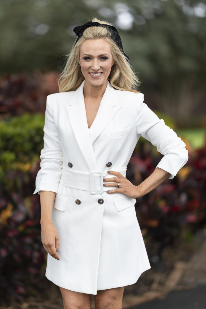 SYDNEY, AUSTRALIA - OCTOBER 05: Sally Bowrey attends the TAB Epsom Day at Royal Randwick Racecourse on October 05, 2019 in Sydney, Australia. (Photo by Wendell Teodoro/WireImage)