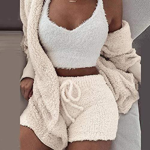<p>Channel your inner Kardashian in this cuddly <span>Warm Fuzzy Fleece 3-Piece Pajama Set</span> ($29). Whether you're cozying up with your partner on the couch or enjoying a midday break, you'll love the feel of this set, and people might just catch you hugging yourself for no reason.</p>