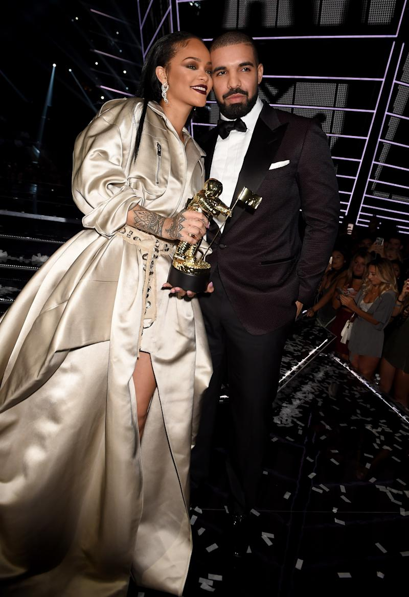 A few months later, Drake would present the singer with the Michael Jackson Video Vanguard Award at the 2016 MTV Video Music Awards, where he would announce he's been in love with her for many years.