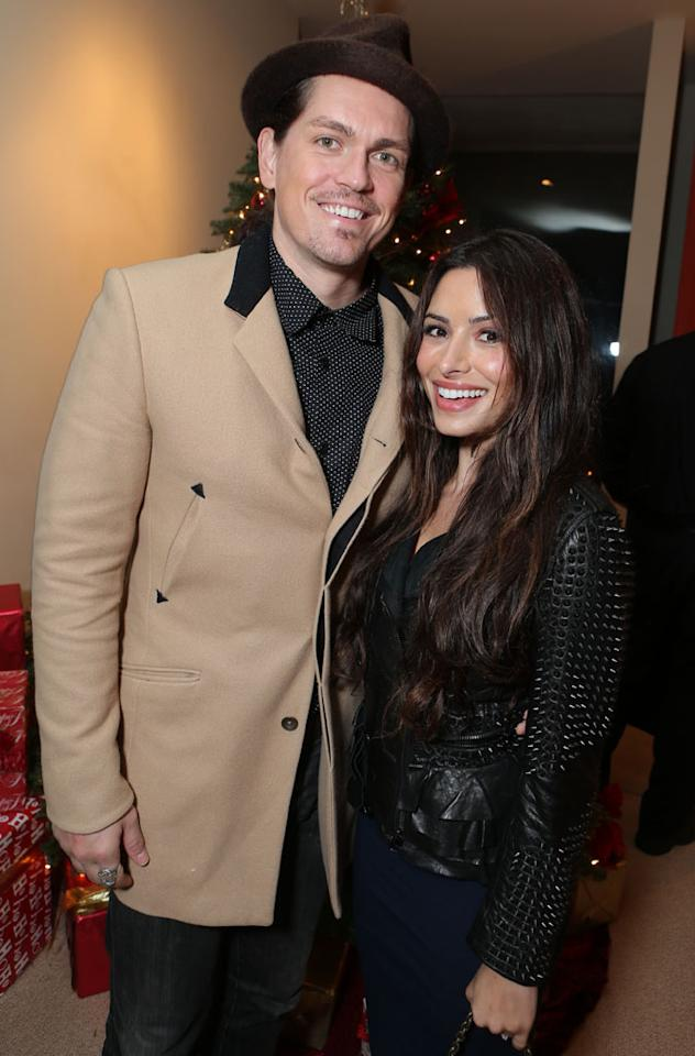 Steve Howey and Sarah Shahi at Showtime's 7th Annual Holiday Soiree on December 3, 2012 in Beverly Hills, California.
