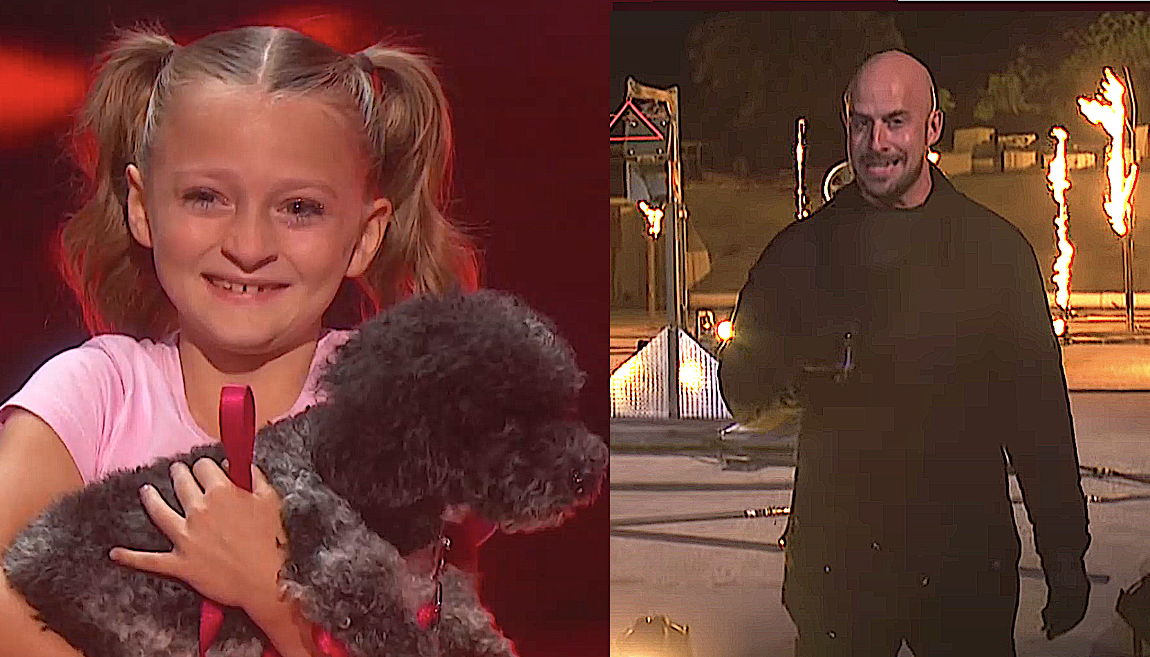 Alexis Brownley & the Puppy Pals and Jonathan Goodwin compete on 'America's Got Talent.' (Photos: NBC)