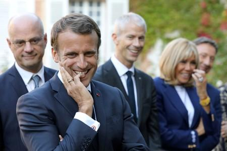 "FILE PHOTO: French President Emmanuel Macron visits the Chateau de By (""By Castle"") in Thomery in support of the European Heritage Days"