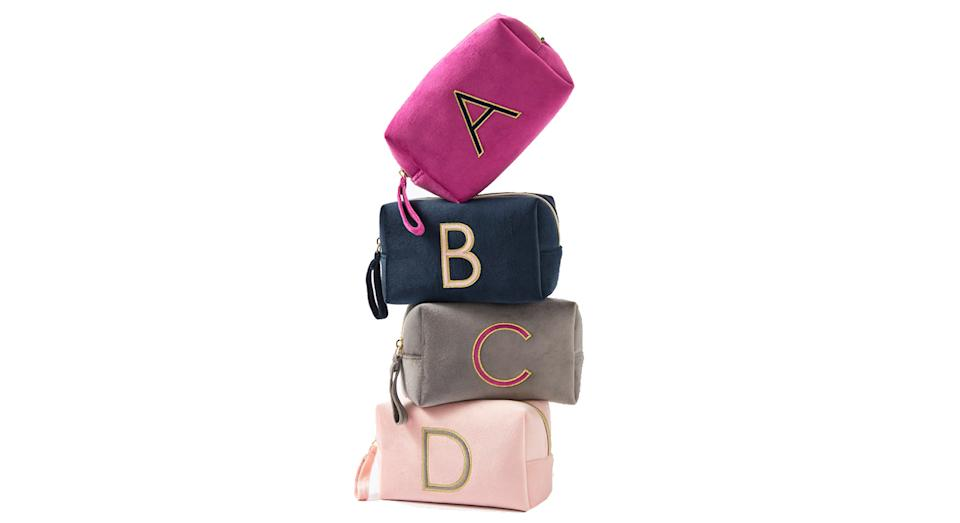 Alphabet Velvet Make Up Bag