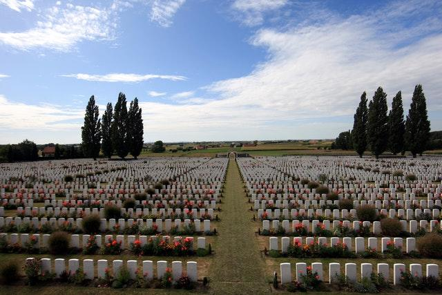 Tyne Cot cemetery at Passchendale