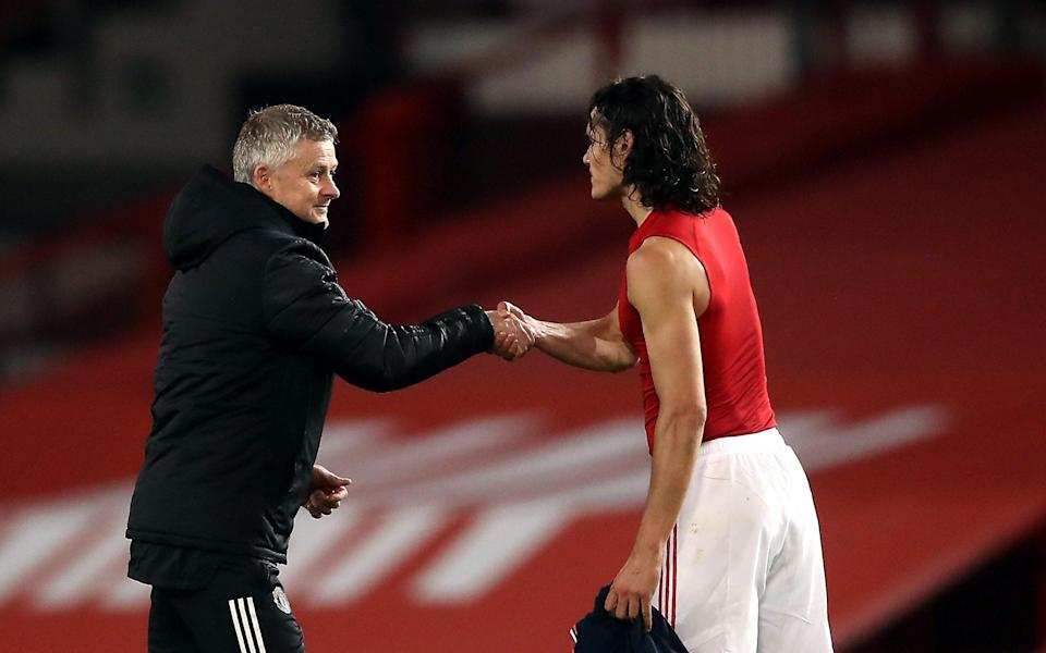 Manchester United manager Ole Gunnar Solskjaer is backing Edinson Cavani - PA
