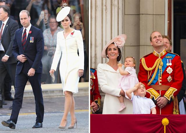 The royal is also likely to have stocked up on several expensive outfits including this white Alexander McQueen number. (Photo: PA)