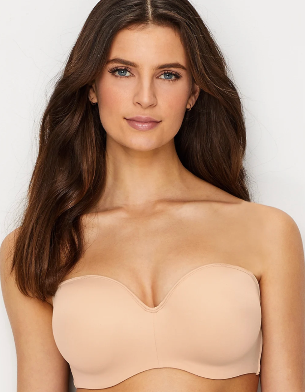 """<p><strong>Key selling points:</strong> With foam-lined underwire cups and a customizable fit thanks to convertible, adjustable stretch straps, this bra is great for summer dresses and tank tops. Plus, the breathable mesh and ultra-fine microfiber finish will help you beat the heat without abandoning the girls.</p> <p><strong>What customers say:</strong> """"It's sexy, comfortable, and supportive—what's not to love? It does it all and makes you look and feel good doing it! Love it!"""" —<em>Pds99, reviewer on</em> <a href=""""https://fave.co/2YtDnJu"""" rel=""""nofollow noopener"""" target=""""_blank"""" data-ylk=""""slk:Bare Necessities"""" class=""""link rapid-noclick-resp""""><em>Bare Necessities</em></a> </p> $44, Bare Necessities. <a href=""""https://www.barenecessities.com/bali-one-smooth-u-8-way-convertible-bra-df6562_product.htm?pf_id=BaliDF6562&color=Nude"""" rel=""""nofollow noopener"""" target=""""_blank"""" data-ylk=""""slk:Get it now!"""" class=""""link rapid-noclick-resp"""">Get it now!</a>"""