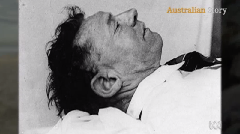 An image of the Somerton Man who was found on the Adelaide beach well-dressed and with no ID on him in 1948. Source: Australian Story