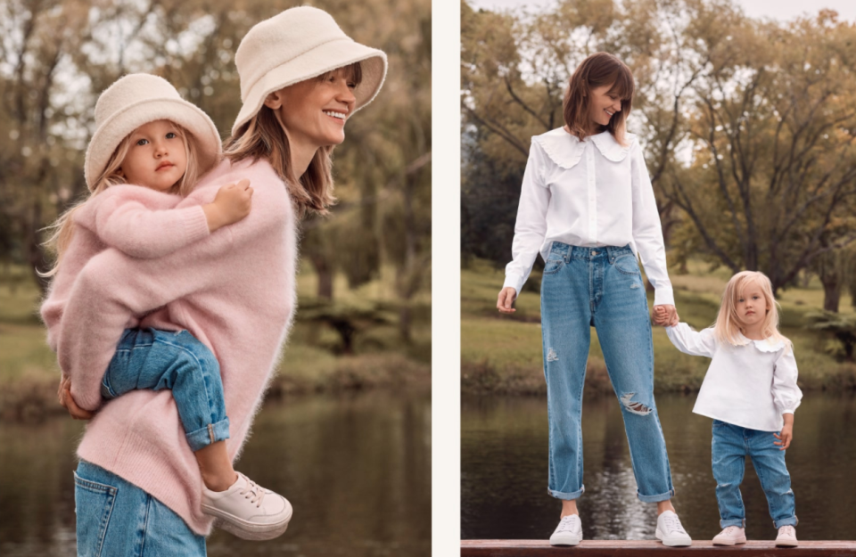 two sets of mummy and me clothes for mothers day from seed