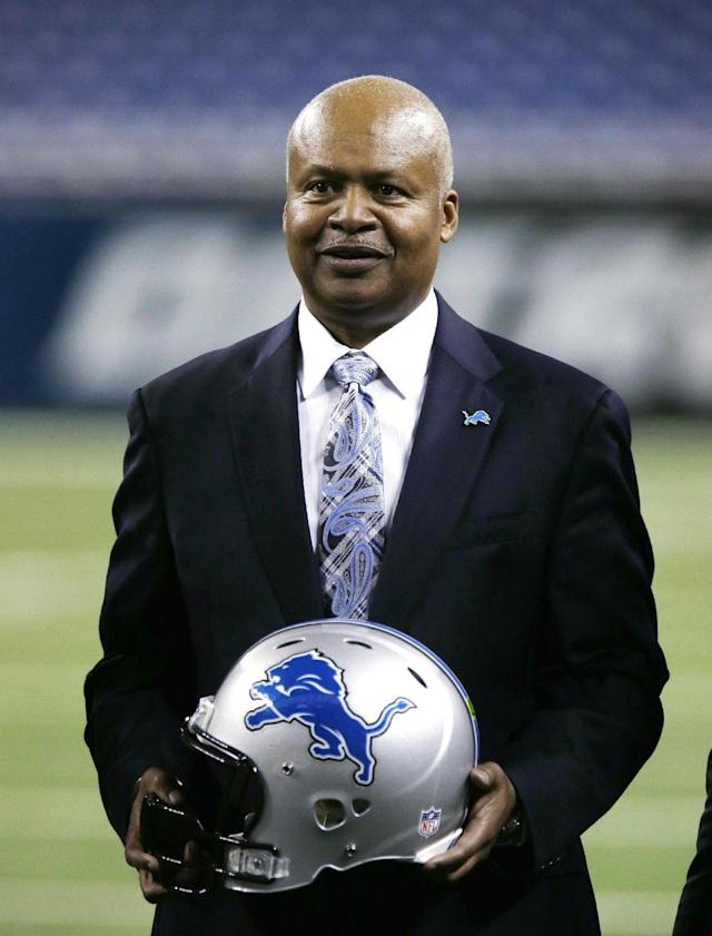 New Detroit Lions head coach Jim Caldwell stands on Ford Field in Detroit, Wednesday, Jan. 15, 2014. Caldwell previously was the Baltimore Ravens quarterbacks coach and offensive coordinator. (AP Photo/Carlos Osorio)