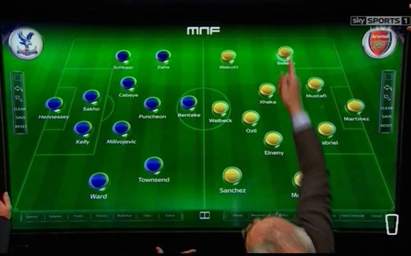 Claudio does tactics on MNF - Credit: Sky Sports