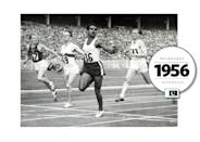 """Abdul Khaliq (a.k.a. """"The Flying Bird of Asia"""") represented Pakistan while at the 1946 Summer Olympics held in Australia. In his lifetime, Khaliq won over 36 International Gold medals — and always rocked a burly mustache. He usually wore high-waisted running shorts with a tank-top tucked in. (Getty Images)"""