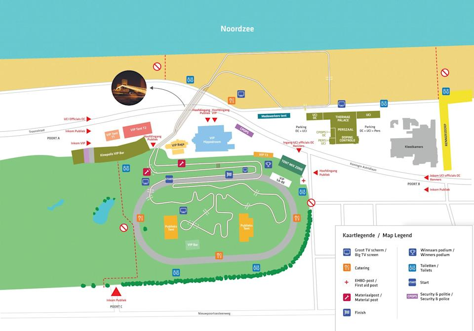 The course of the 2021 UCI Cyclo-cross World Championships