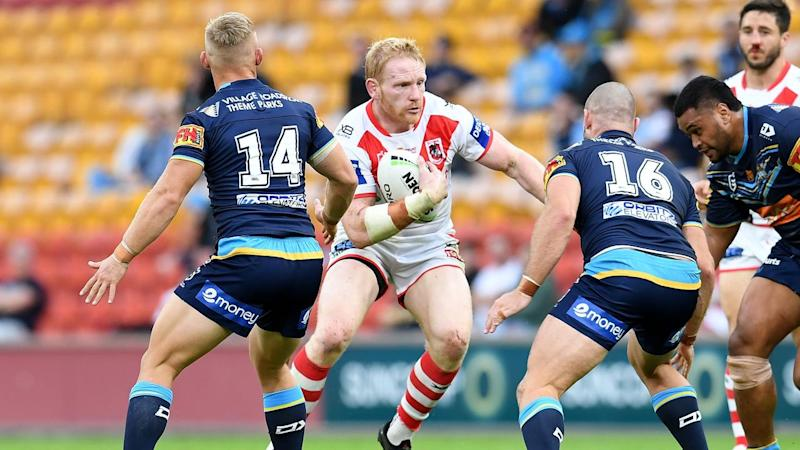 St George Illawarra have beaten Gold Coast 20-8 but has James Graham (2L) played his last NRL game?