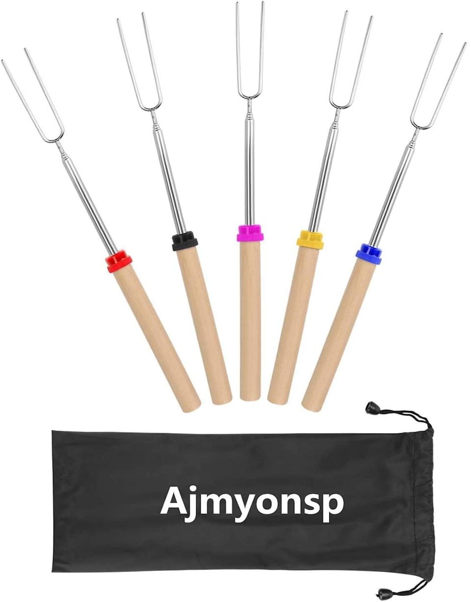 <p>If you're going to make s'mores, you need these <span>Marshmallow Roasting Sticks</span> ($19).</p>