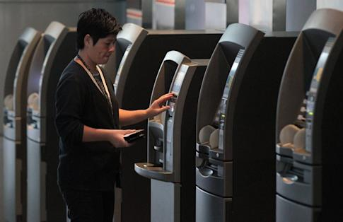 ATMs at HSBC's headquarters in Central in Hong Kong on 5 November 2012. Photo: SCMP