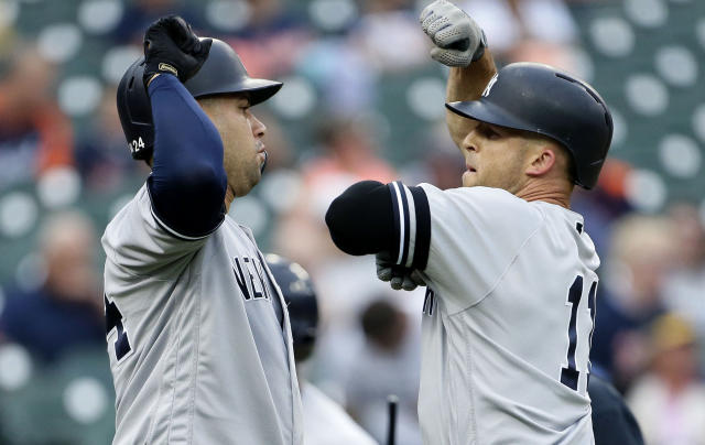 The Yankees lost Tuesday, but are still closing in on the AL East title. (Photo by Duane Burleson/Getty Images)