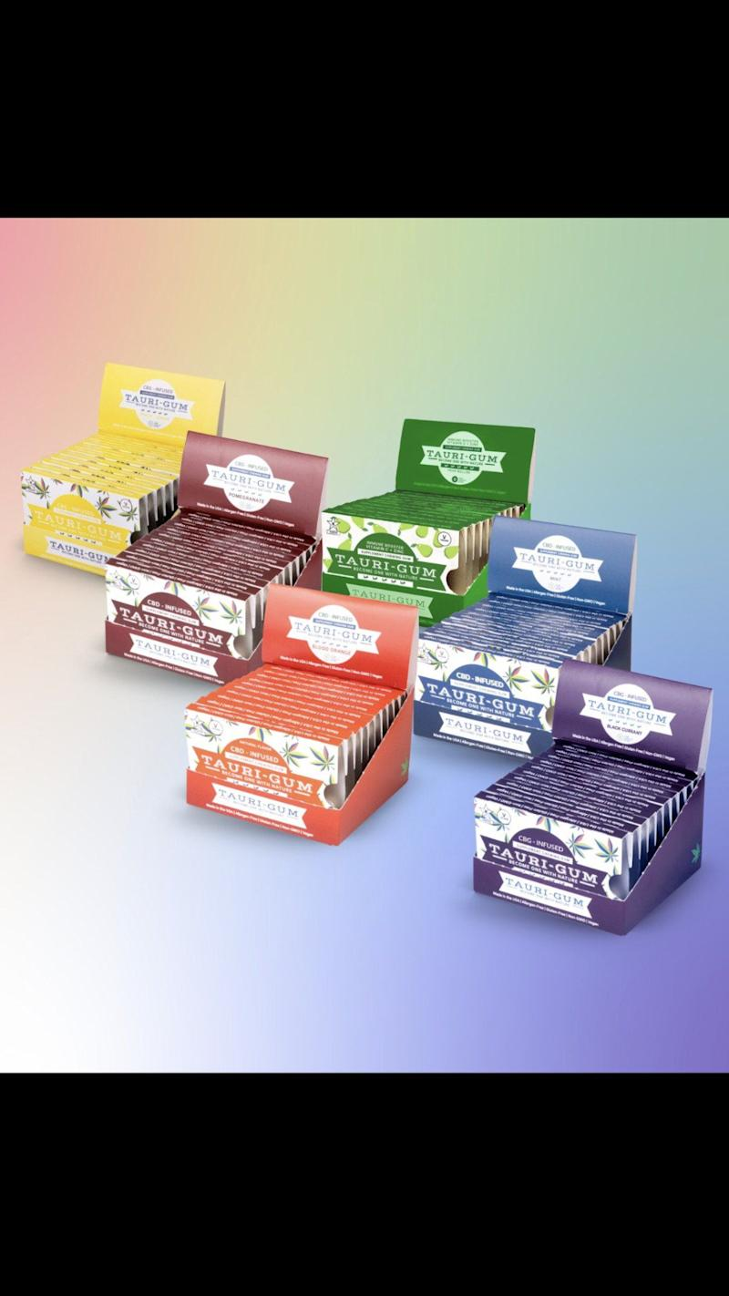 Tauri-Gum™ Product Line: Retail Display Boxes