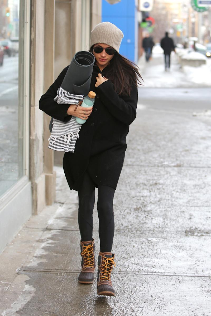 Meghan Markle wearing Kamik boots in Dec. 2016. Picture by: SplashNews.com.