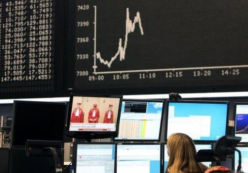 Bank shares surge despite European market slide
