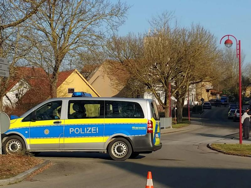 Police secure the area following a shooting in Bahnhoftrasse, Rot am See: REUTERS